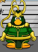 my club penguin- loki by DeathTheKid66