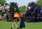 Merida and Kim with engines by hot293wildcat