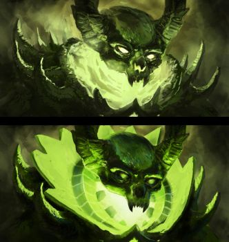 DOTA 2 | Pugna First sketch by BEN-BEN-BEN