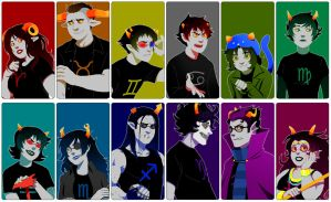 Homestuck: Alternia Trolls by PunPuniChu