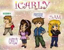 ICarly Chibis Colored by Fallonkyra