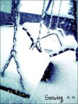 Playground in winter time by KarmiCookieMonsta