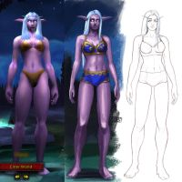 Female Nightelf by clz