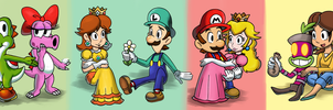 Mario Couples by TrishaKat
