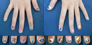 MLP Main Cast Nail Art by jules-eye