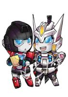 Superdeformers: Drift and Percy by MZ15