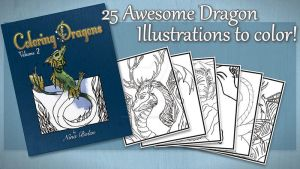 Coloring Dragons Volume 2 by The-GoblinQueen