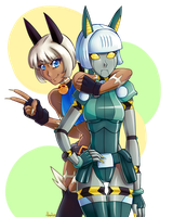 Ms Fortune and Robo Fortune by varaa
