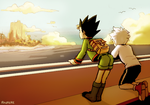 HxH: Gon and Killua looking out by student-yuuto
