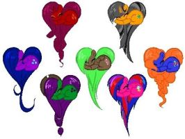 Pony Hearts by CocoaBittles935