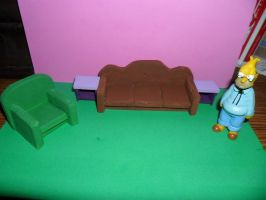 The Simpsons Furniture: Living Room WIP 1 by kayanah