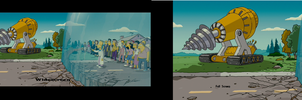 The Simpsons Movie Widescreen VS Full Screen by sonicmasher