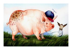 Chucky the pig by gapinska