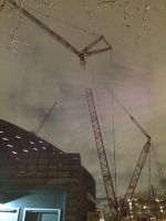 Towering Crane over the Barclay Center by towerpower123