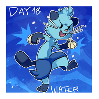 pokeddexy day 18:dewott by ScarfFetish