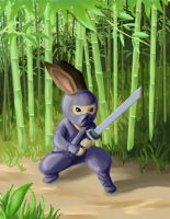 Mini Ninjas bun by nienor