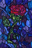 Stained Glass Rose by Shmelanna