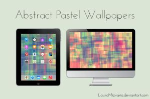 Abstract Pastels | Desktop/iPad Wallpaper by LauraMizvaria