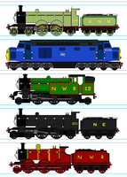 WildNorWester's Characters by RailfanBronyMedia