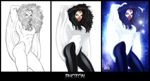 Colored Stages of Photon by Cahnartist