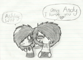 Andy Biersack and Ashley Purdy by Echo-moonsky