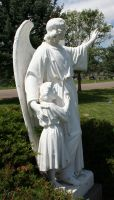 Mount Olivet Cemetery Guardian Angel 237 by Falln-Stock