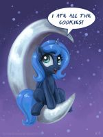 Luna On The Moon by KP-ShadowSquirrel
