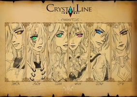 CRYSTALLINE - Main Characters by versionstudio
