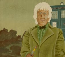 Classic painting portrait TARDIS by Umanimo