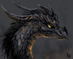 Hell dragon by EagleRedbeak
