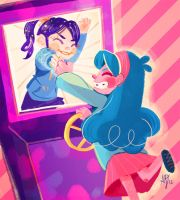 mabel's game (mild wreck-it-ralph spoilers) by papier-crane