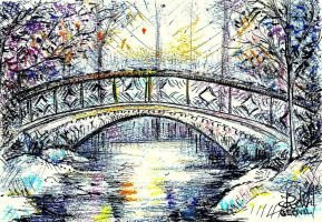 The Bridge in Winter by Keltu