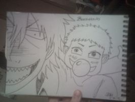oga and baby beel :3 by beccahanks
