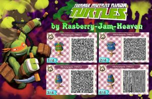 Teenage Mutant Ninja Turtles: Michelangelo QR code by Rasberry-Jam-Heaven