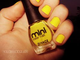 yellow lacquer. my love:D by nothingmiss15