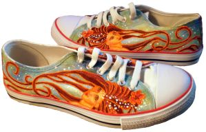 Art Nouveau Sneakers by Luthienshadows