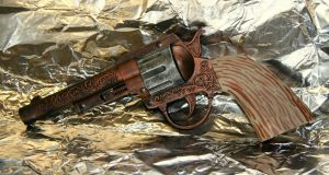 Prop Revolver w Stag Grips by JohnsonArms