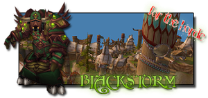WoW Forum Sign - BlackStorm by Lil-James