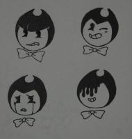 Faces of Bendy by DragneeEmberDragon