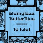 Stainglass Butterflies by rL-Brushes