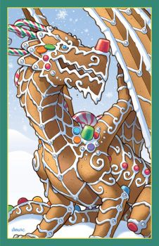 Gingerbread Dragon by D-MAC