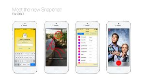 Snapchat Redesign Concept for iOS 7 by Ohsneezeme