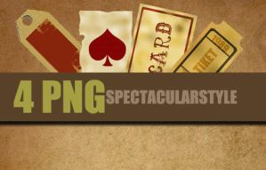 4 PNG vintage by spectacularstyle