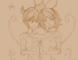 Conjoined Twins Sketch by Cleopatrawolf