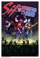 Sif and the Warriors Three by TheNoirGuy