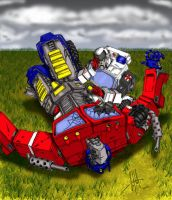 Optimus Falls by GerHankey