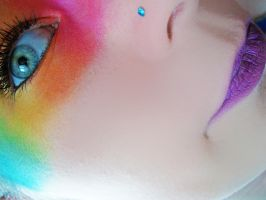 Rainbow face by Jennybicky