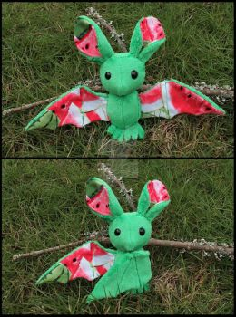 FOR SALE: Watermelon Fruit Bat by A-chan--Creations