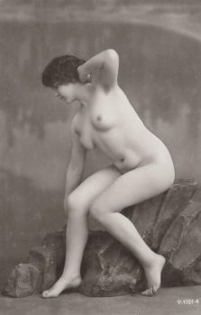 Vintage nude flapper 002 by MementoMori-stock