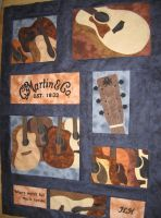 Guitar Quilt by Stitchwich